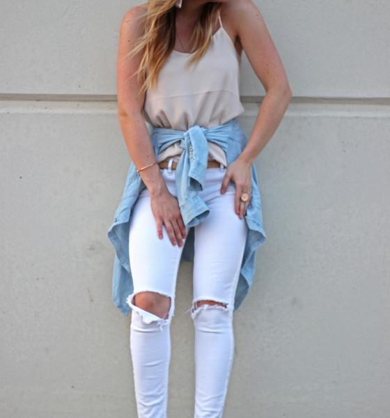 Blush + White